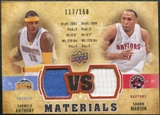 2009/10 Upper Deck VS Dual Materials Bronze #VSMA Carmelo Anthony Shawn Marion /150