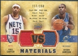 2009/10 Upper Deck VS Dual Materials Bronze #VSVA Antawn Jamison Vince Carter /150