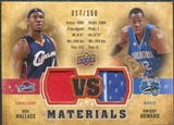 2009/10 Upper Deck VS Dual Materials Bronze #VSWH Ben Wallace Dwight Howard /150