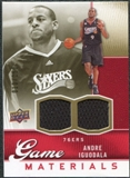 2009/10 Upper Deck Game Materials Gold #GJAI Andre Iguodala /150