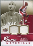 2009/10 Upper Deck Game Materials Gold #GJAM Alonzo Mourning /150