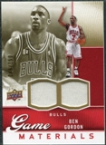 2009/10 Upper Deck Game Materials Gold #GJBG Ben Gordon /150