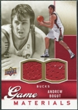 2009/10 Upper Deck Game Materials Gold #GJBO Andrew Bogut /150