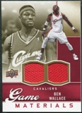 2009/10 Upper Deck Game Materials Gold #GJBW Ben Wallace /150