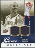 2009/10 Upper Deck Game Materials Gold #GJCB Carlos Boozer /150