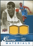 2009/10 Upper Deck Game Materials Gold #GJCP Chris Paul /150