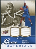 2009/10 Upper Deck Game Materials Gold #GJDH Dwight Howard /150