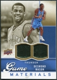 2009/10 Upper Deck Game Materials Gold #GJDM Desmond Mason /150
