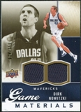 2009/10 Upper Deck Game Materials Gold #GJDN Dirk Nowitzki /150