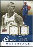 2009/10 Upper Deck Game Materials Gold #GJDS DeShawn Stevenson /150