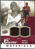 2009/10 Upper Deck Game Materials Gold #GJDW Dorell Wright /150