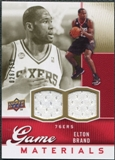 2009/10 Upper Deck Game Materials Gold #GJEB Elton Brand /150