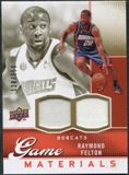 2009/10 Upper Deck Game Materials Gold #GJFE Raymond Felton /150