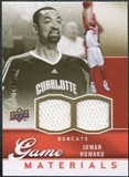 2009/10 Upper Deck Game Materials Gold #GJHO Juwan Howard /150