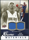 2009/10 Upper Deck Game Materials Gold #GJJH Josh Howard /150