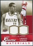2009/10 Upper Deck Game Materials Gold #GJLA LaMarcus Aldridge /150