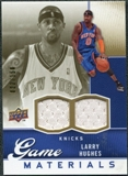 2009/10 Upper Deck Game Materials Gold #GJLH Larry Hughes /150