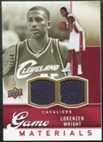 2009/10 Upper Deck Game Materials Gold #GJLW Lorenzen Wright /150