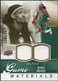 2009/10 Upper Deck Game Materials Gold #GJMM Mikki Moore /150