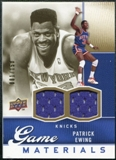 2009/10 Upper Deck Game Materials Gold #GJPE Patrick Ewing /150