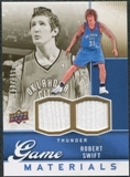 2009/10 Upper Deck Game Materials Gold #GJRS Robert Swift /150
