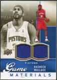 2009/10 Upper Deck Game Materials Gold #GJRW Rasheed Wallace /150
