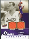 2009/10 Upper Deck Game Materials Gold #GJSB Shannon Brown /150