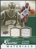 2009/10 Upper Deck Game Materials Gold #GJST Stephon Marbury /150
