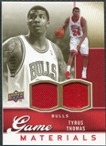 2009/10 Upper Deck Game Materials Gold #GJTT Tyrus Thomas /150