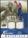 2009/10 Upper Deck Game Materials Gold #GJVC Vince Carter /150