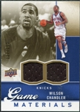 2009/10 Upper Deck Game Materials Gold #GJWC Wilson Chandler /150