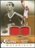 2009/10 Upper Deck Game Materials Gold #GJWR Brandan Wright /150