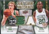 2009/10 Upper Deck Game Materials Dual Gold #DGAB Larry Bird Ray Allen /150
