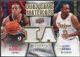 2009/10 Upper Deck Game Materials Dual Gold #DGAG Andre Iguodala Gilbert Arenas /150