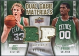 2009/10 Upper Deck Game Materials Dual Gold #DGBP Larry Bird Robert Parish /150