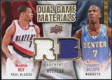 2009/10 Upper Deck Game Materials Dual Gold #DGBR Brandon Roy Chauncey Billups /150