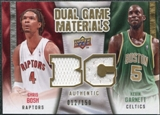 2009/10 Upper Deck Game Materials Dual Gold #DGCK Chris Bosh Kevin Garnett /150