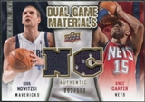 2009/10 Upper Deck Game Materials Dual Gold #DGCN Dirk Nowitzki Vince Carter /150