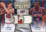 2009/10 Upper Deck Game Materials Dual Gold #DGDL Bill Laimbeer Joe Dumars /150