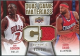 2009/10 Upper Deck Game Materials Dual Gold #DGGD Baron Davis Ben Gordon /150
