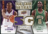 2009/10 Upper Deck Game Materials Dual Gold #DGGS Amare Stoudemire Kevin Garnett /150