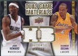 2009/10 Upper Deck Game Materials Dual Gold #DGHB Josh Howard Shannon Brown /150