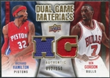 2009/10 Upper Deck Game Materials Dual Gold #DGHG Ben Gordon Richard Hamilton /150