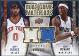 2009/10 Upper Deck Game Materials Dual Gold #DGHH Josh Howard Larry Hughes /150