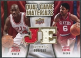 2009/10 Upper Deck Game Materials Dual Gold #DGJE Julius Erving Michael Jordan /150