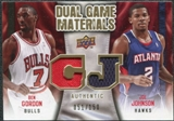 2009/10 Upper Deck Game Materials Dual Gold #DGJG Ben Gordon Joe Johnson /150