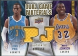 2009/10 Upper Deck Game Materials Dual Gold #DGJP Chris Paul Magic Johnson /150