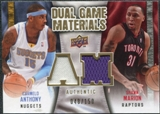 2009/10 Upper Deck Game Materials Dual Gold #DGMA Carmelo Anthony Shawn Marion /150