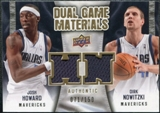 2009/10 Upper Deck Game Materials Dual Gold #DGNH Dirk Nowitzki Josh Howard /150