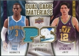 2009/10 Upper Deck Game Materials Dual Gold #DGPS Chris Paul John Stockton /150